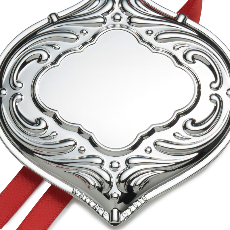 Wallace Silver Engravable Ornament, Christmas Bauble 2016 ...