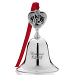 2016 Wallace Grande Baroque Bell Silver Christmas Ornament