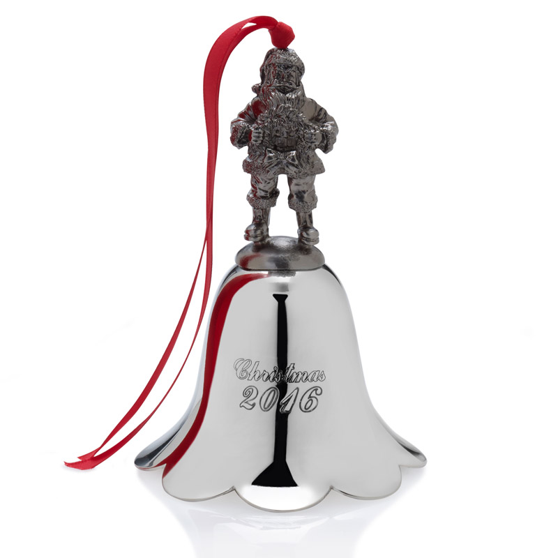 Wallace santa christmas bell ornament