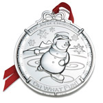2016 Wallace Snowman Silver Christmas Ornament
