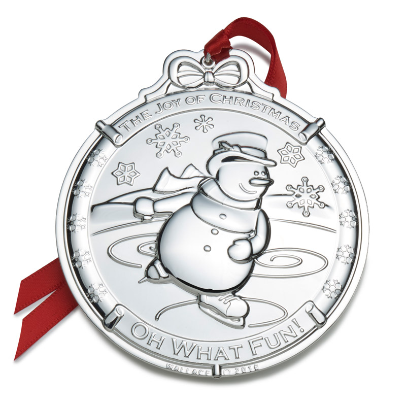 Silver Snowman Christmas Tree Decoration | Wallace Ornaments | Christmas Snowman