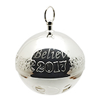 2017 Wallace Believe Sleigh Bell - Polar Express Bell Christmas Ornament