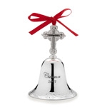 2017 Wallace Grande Baroque Bell Silver Christmas Ornament