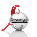 2017 Wallace Sleigh Bell Silverplate Christmas Ornament