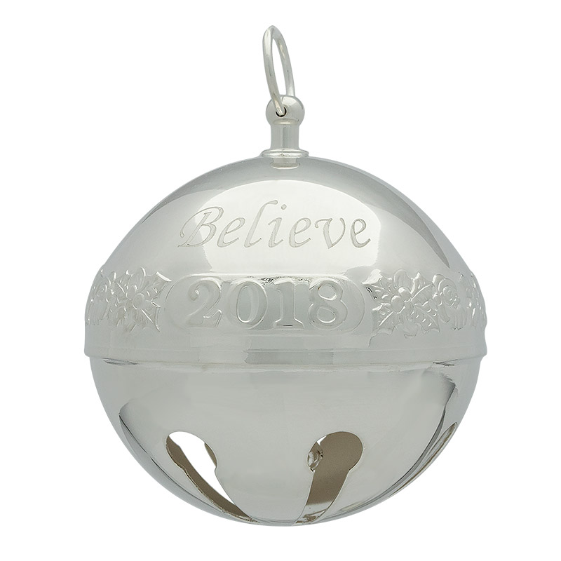 Wallace Believe Sleigh Bell Christmas Tree Decoration | Wallace Christmas Ornaments | 2018 Believe Bell