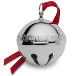 2018 Wallace Sleigh Bell Silverplate Christmas Ornament