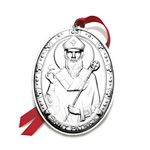 2013 Wallace Annual Saint Patrick Sterling Silver Christmas Ornament