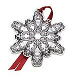 2014 Wallace Grande Baroque Snowflake Sterling Silver Christmas Ornament