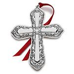 2015 Wallace Grande Baroque Cross Sterling Silver Christmas Ornament
