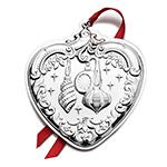2015 Wallace Grande Baroque Heart Sterling Silver Christmas Ornament