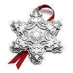 2015 Wallace Grande Baroque Snowflake Sterling Silver Christmas Ornament