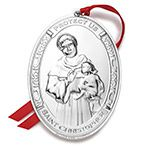 2015 Wallace Annual Saint Christopher Sterling Silver Christmas Ornament