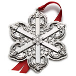 Wallace Grand Baroque Snowflake, Sterling Silver Christmas Ornament