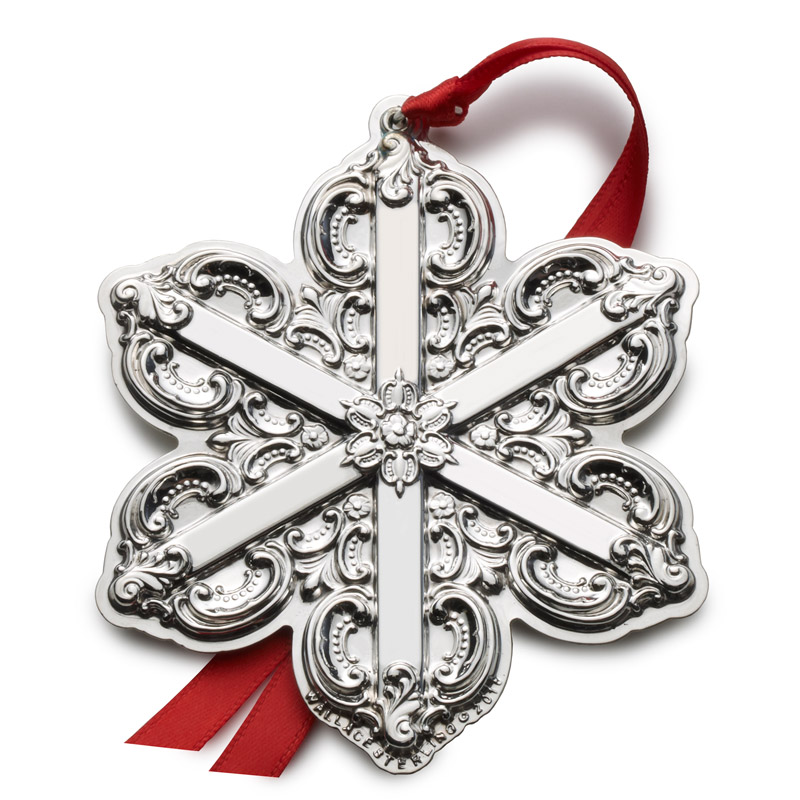 grande baroque snowflake christmas tree decoration wallace ornaments 2016 grande baroque snowflake - Snowflake Christmas Decorations