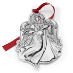 2017 Wallace Grande Baroque Angel Sterling Silver Christmas tree decoration