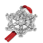 2017 Wallace Grande Baroque Snowflake Sterling Silver Christmas Ornament