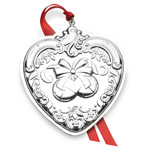 Wallace Grand Baroque heart, Sterling Silver Christmas Ornament