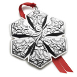 2018 Wallace Grande Baroque Snowflake Sterling Silver Christmas Ornament