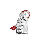 2018 Wallace Silver Santa Christmas Ornament