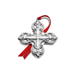 2019 Wallace Grande Baroque Cross Sterling Silver Christmas Ornament
