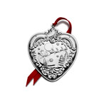 2019 Wallace Grande Baroque Heart Sterling Silver Christmas tree decoration