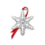 2019 Wallace Grande Baroque Snowflake Sterling Silver Christmas tree decoration