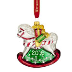 2016 Waterford Baby's First Christmas Glass Ornament, Rocking Horse Ornament