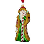 Waterford Candy Cane Santa Ornament