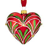 Waterford Christmas Eve Heart Glass Ornament