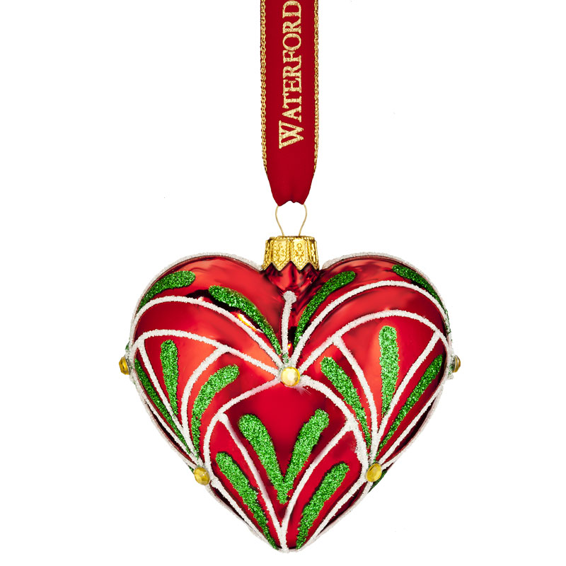 Waterford christmas eve heart ornament silver superstore