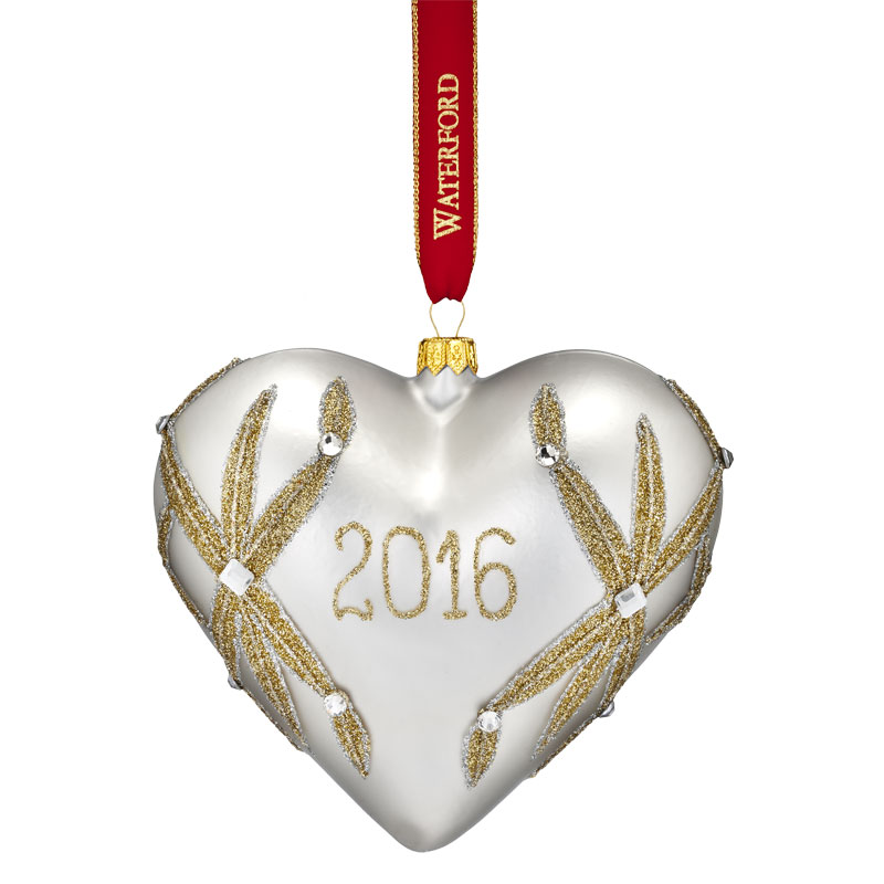 Waterford Lismore Our First Christmas Heart Ornament 2016