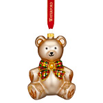 2017 Waterford Baby's First Christmas Glass Ornament, Teddy Bear Ornament