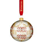 Waterford Holiday Heirloom Nostalgic Dungarvan Silver Ball Ornament