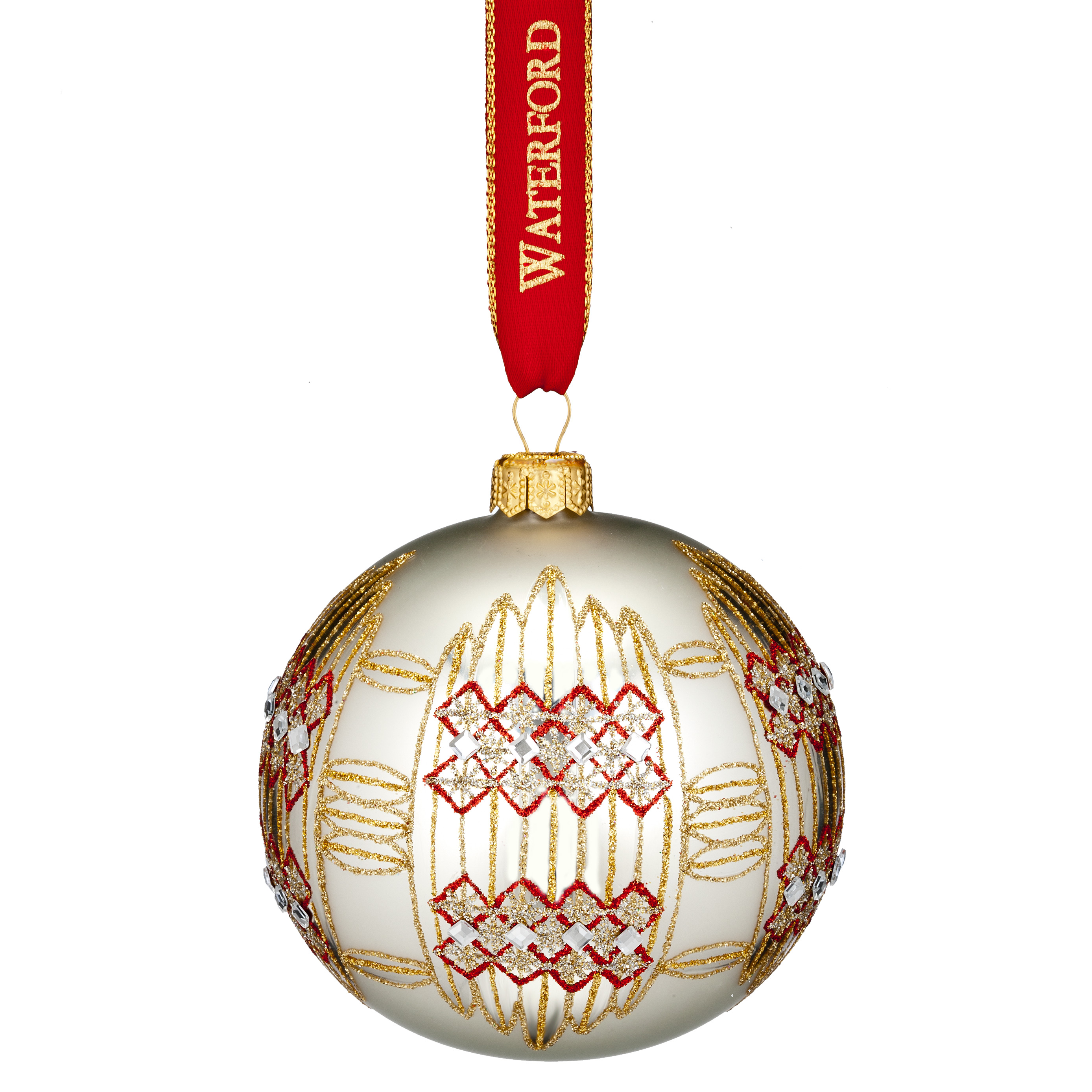 Nostalgic Dungarvan Silver Ball | Waterford Christmas Tree Decoration | Ball Decoration