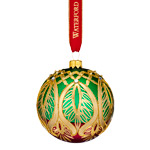 Waterford Nostalgic Peacock Grande Ball Ornament | Waterford Christmas Ornament | Ball Ornament