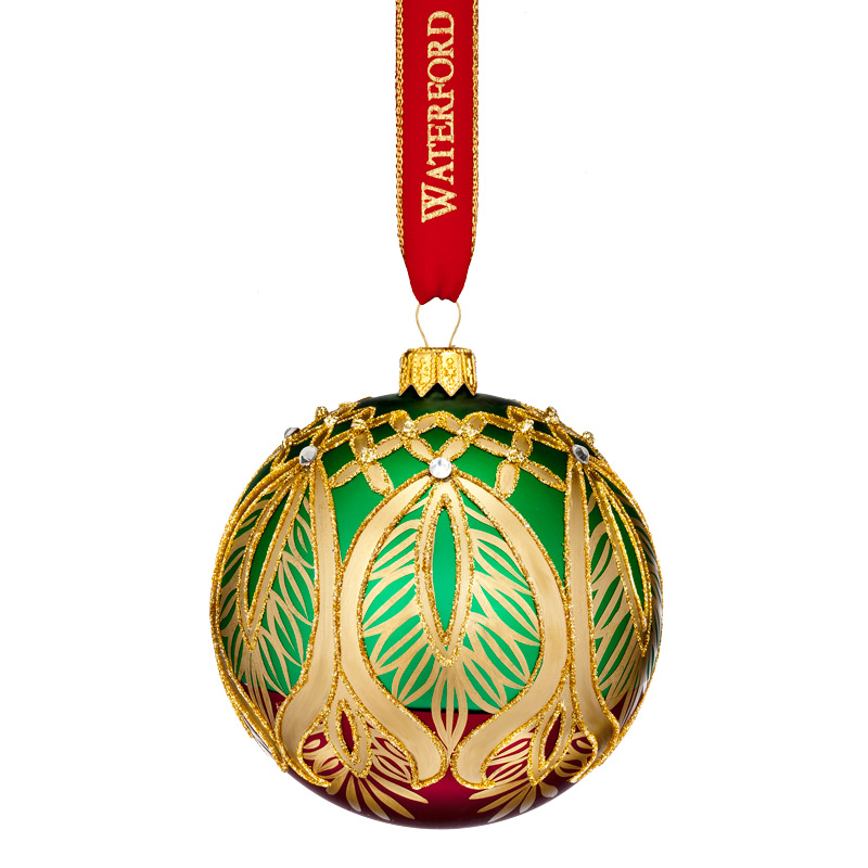 Nostalgic Peacock Grande Ball | Waterford Christmas Tree Decoration | Ball Decoration