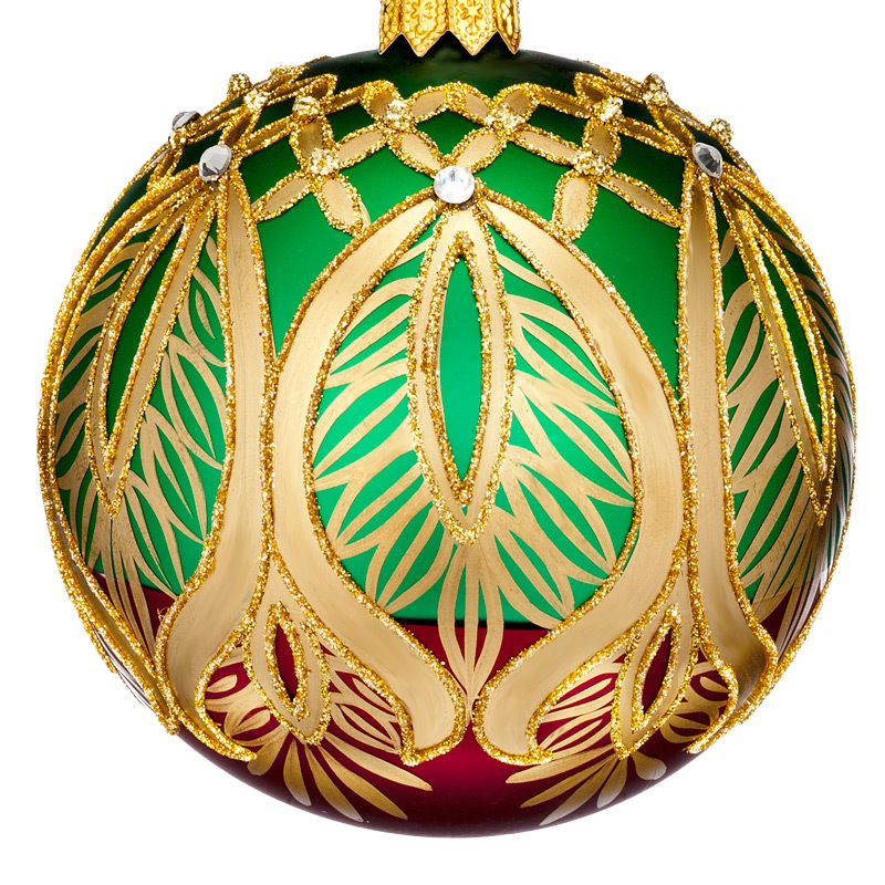 Waterford Nostalgic Peacock Grande Ball Ornament 2017  Silver