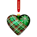 Waterford Nostalgic Plaid Heart Ornament | Waterford Christmas Ornament | Heart Ornament
