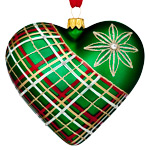 Nostalgic Plaid Heart | Waterford Christmas Tree Decoration | Heart Decoration