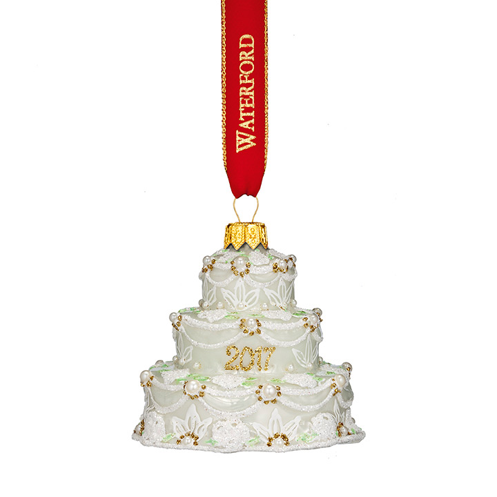 wedding cake christmas ornament waterford our nostalgic cake ornament 8593