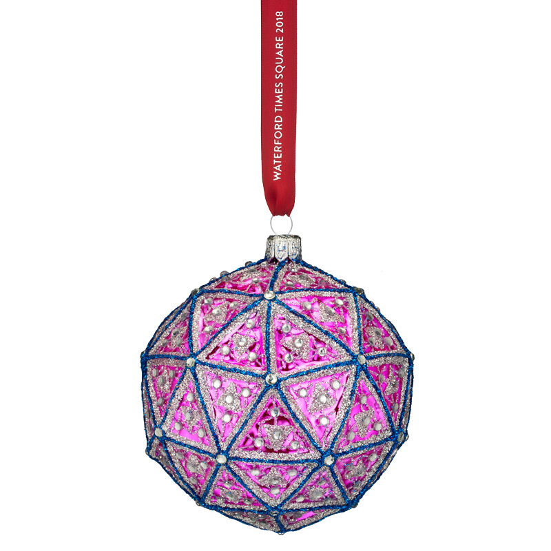 2018 Times Square Replica Ball, New Year's | Waterford Crystal Christmas Tree Decoration | Times Square Replica Ball Ornament