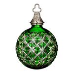 2014 Waterford Cased Ball Emerald Crystal Christmas Ornament