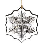 2014 Waterford Marquis Crystal Snowflake Christmas Ornament