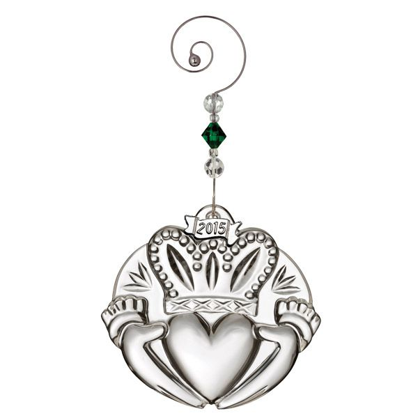 2015 Waterford Crystal Claddagh Christmas Ornament