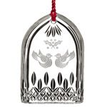 Waterford Lismore Two Turtle Doves Crystal Christmas Ornament