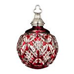 2015 Waterford Cased Ball Ruby Crystal Christmas Ornament