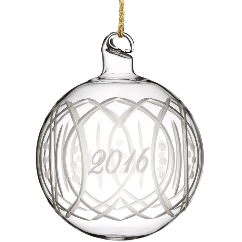 Waterford crystal marquis christmas ball ornament 2016 for Crystal baubles christmas