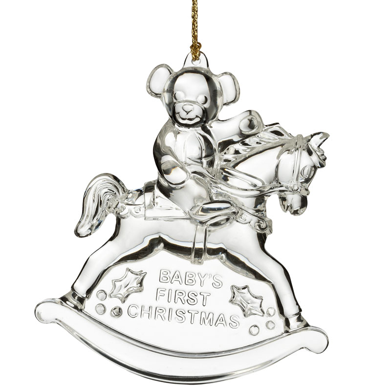 Waterford Crystal Baby's First Christmas Ornament 2016 | Silver ...