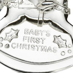 2016 Marquis Baby's First Christmas | Waterford Crystal Christmas Tree Decoration | Teddy Bear and Rocking Horse