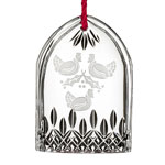 Waterford Lismore Three French Hens Crystal Christmas Ornament